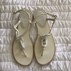 Burberry white sandals sz 36.5 - US 6.5